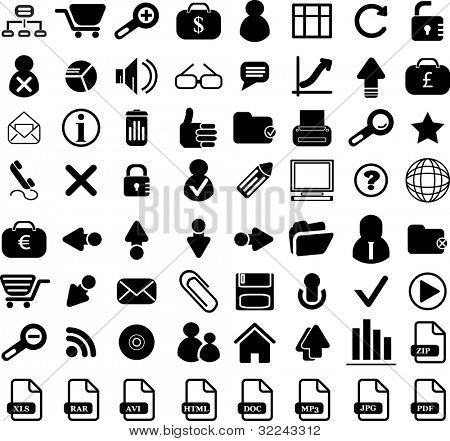 64 business vector icon web set