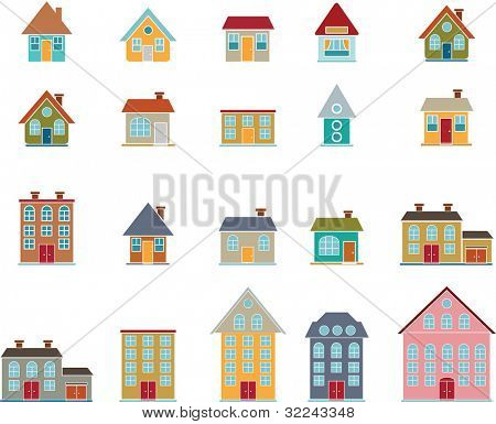 20 house vector set