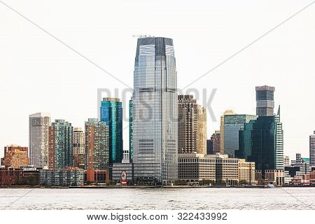 New Jersey, Usa - Apr 28, 2016: Jersey City And River Hudson. Jersey City Is The Second Most Populou