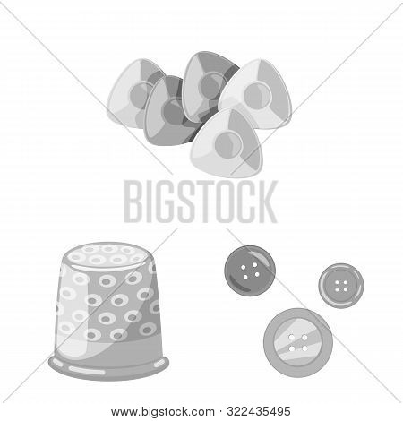Vector Design Of Dressmaking And Textile Icon. Set Of Dressmaking And Handcraft Stock Symbol For Web
