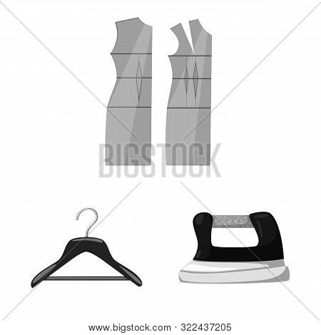Isolated Object Of Dressmaking And Textile Icon. Set Of Dressmaking And Handcraft Stock Vector Illus