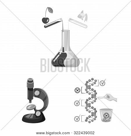 Isolated Object Of Transgenic And Organic Sign. Collection Of Transgenic And Synthetic Stock Symbol