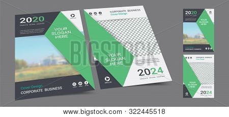 Poster Cover Book Design Template In A4 Layout With Space For Photo Background, Cmyk 2 Tone Color Su