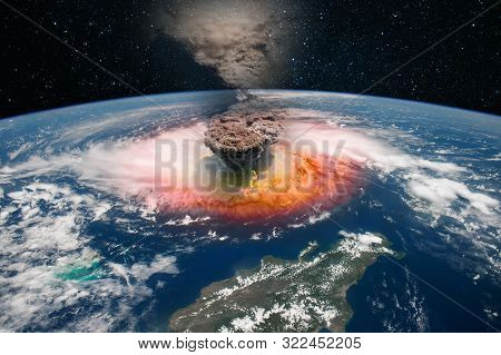 Epicenter Of A Nuclear Explosion, Armageddon For Planet Earth. Elements Of This Image Furnished By N