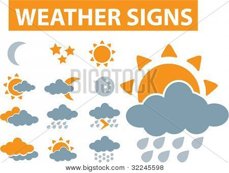 weather signs. raster version