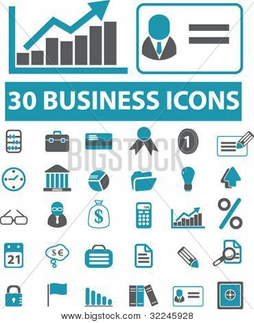 30 pro business icons. vector