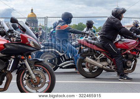 St. Petersburg, Russia - August 03,  2019: Harley-davidson Motorcycle Festival In St. Petersburg. Va