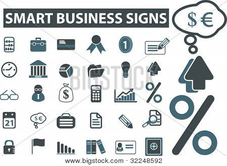 smart business signs. vector