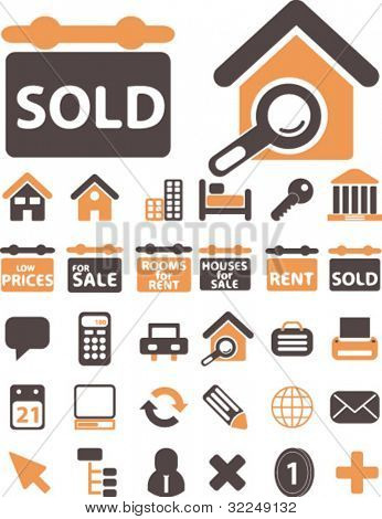 real estate & signs. vector