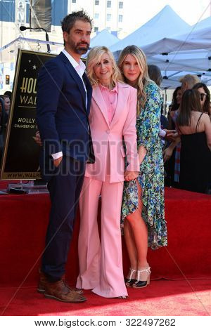 LOS ANGELES - SEP 12:  Hamish Linklater, Judith Light, Lily Rabe at the Judith Light Star Ceremony on the Hollywood Walk of Fame on September 12, 2019 in Los Angeles, CA