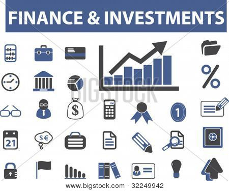 finance & investments signs. vector