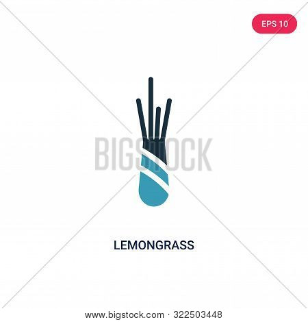 lemongrass icon in two color design style.
