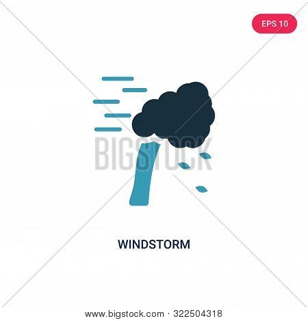 windstorm icon in two color design style.