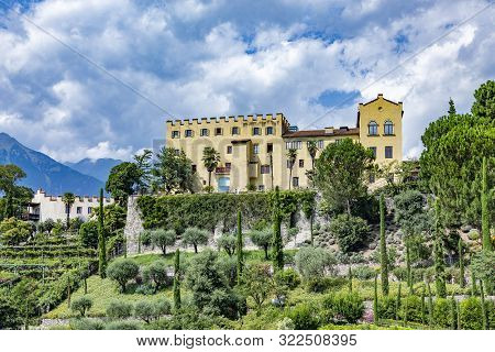 Castle Trauttmannsdorf In Meran (merano), Region Botsen In Italy