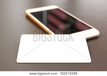 Money Transfer. Creditcard Using For Money Payment. Smartphone W