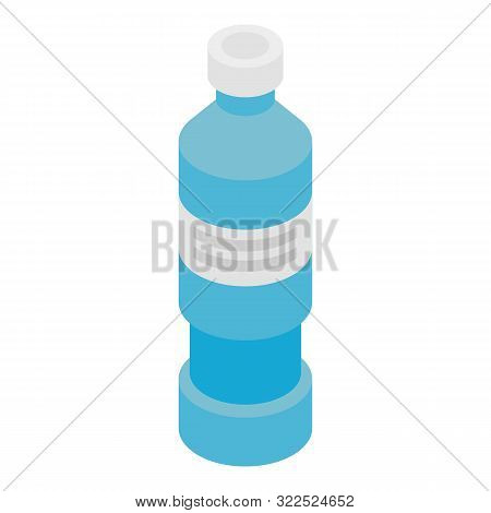 Tall Medicine Bottle Icon. Isometric Of Tall Medicine Bottle Vector Icon For Web Design Isolated On