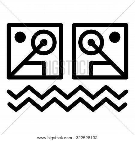 Illuminati Alchemic Icon. Outline Illuminati Alchemic Vector Icon For Web Design Isolated On White B