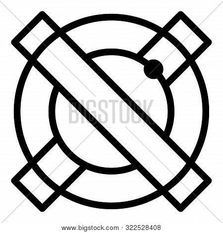 Alchemy Sign Icon. Outline Alchemy Sign Vector Icon For Web Design Isolated On White Background