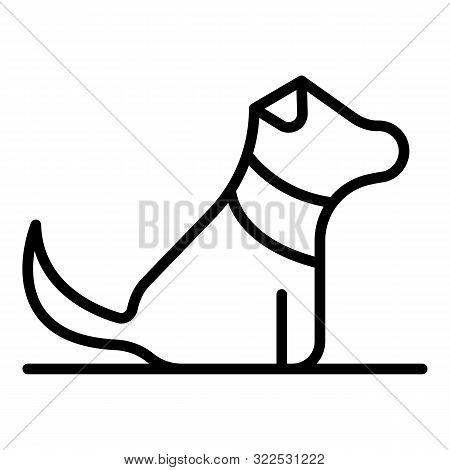 Home Puppy Dog Icon. Outline Home Puppy Dog Vector Icon For Web Design Isolated On White Background