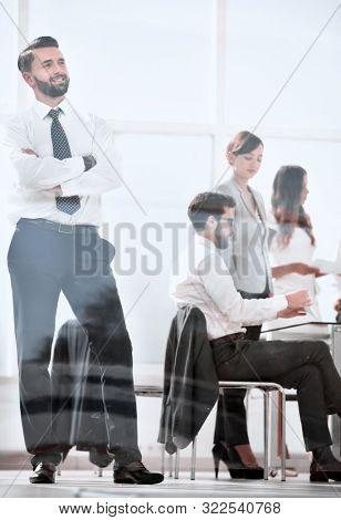 modern businessman in the workplace in the office