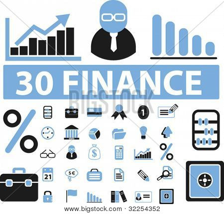 30 professional finance signs. vector