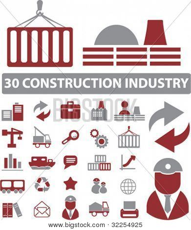 30 construction industry signs. vector