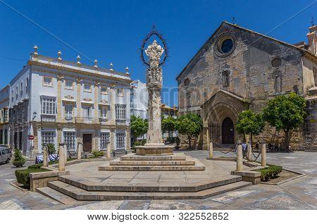 Jerez De La Frontera, Spain - May 15, 2019: San Dionisio Square In Jerez De La Frontera, Spain