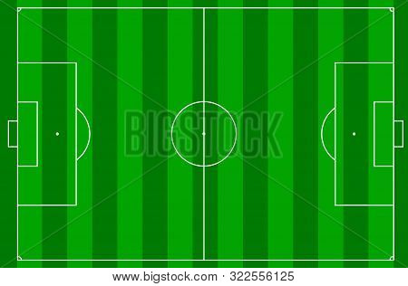 Vector Illustration Of A Football Pitch, Soccer Field