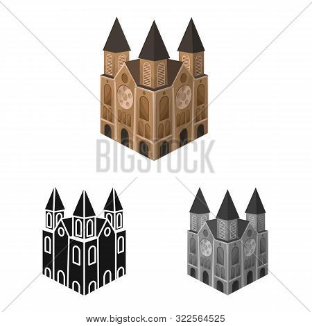 Isolated Object Of Chapel And Vietnamese Icon. Set Of Chapel And Cathedral Vector Icon For Stock.