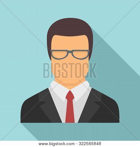 Jurist Avatar Icon. Flat Illustration Of Jurist Avatar Vector Icon For Web Design