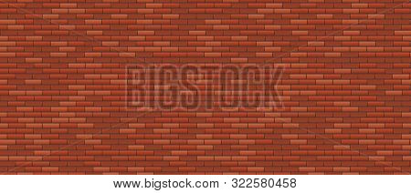 Seamless Brick Wall. Old Red Brick Wall Background. Urban Wall Texture. Vector Illustration