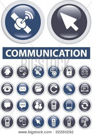 professional communication buttons. vector