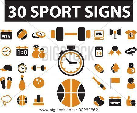 30 sinais de esporte. vector