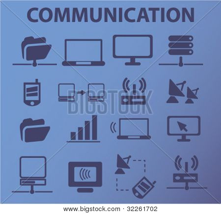 communication signs, vector