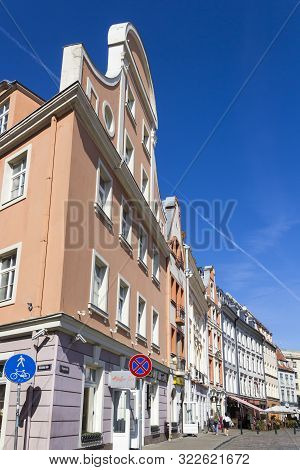 Riga, Latvia - September 1, 2019: Tirgonu Street In The Old Town Of Riga