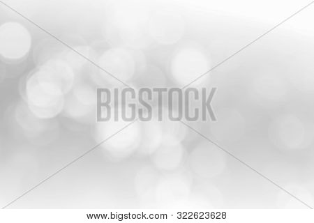 Abstract White Bokeh With Soft Blurred Background Nature Blurry Light Party In Vintage Style Warm Pa