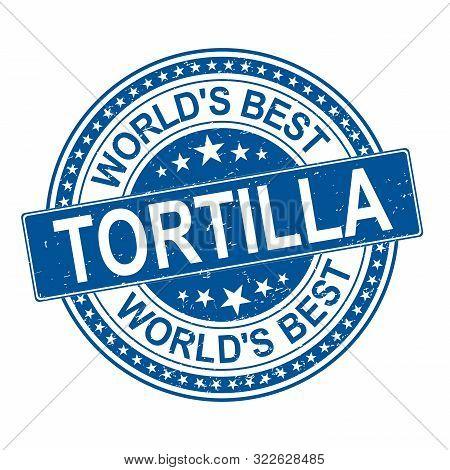 Tortilla Vintage Label, Logo Design Template On White Background
