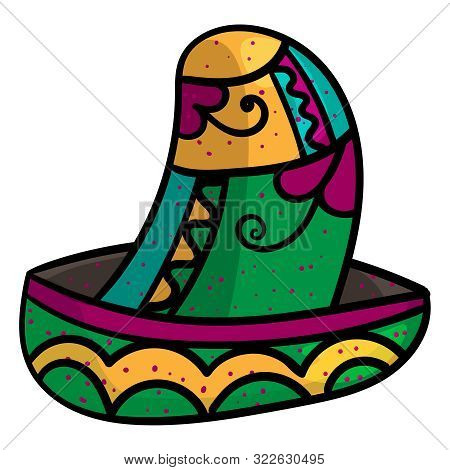 Cinco De Mayo celebration. Mexican Sombrero. National traditional latino costume hat Mexican. - Vector. poster