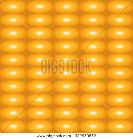 Pattern Of Food Corn. Summer Texture Corn. Seamless Pattern Of Corn Fresh Pulp Full Of Yellow Corn O