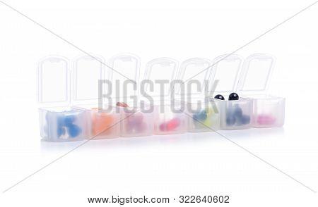 Organizer For Pills On White Background Isolation