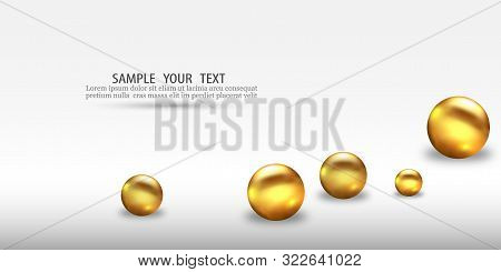 3d Gold Geometric Balls Abstract Vector Geometric Background