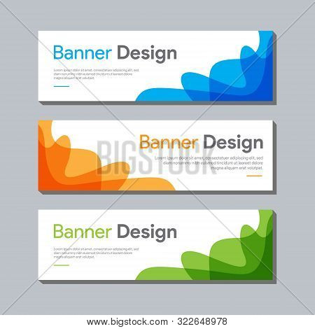 set of banner , ad banner design , website banner design , banner design with space for photo or image , clean and modern ads banner design, web banner tempate , popular banner vector