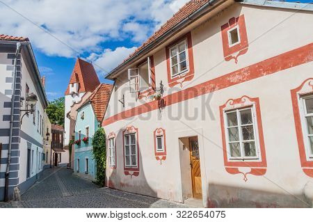 Traditional Houses In Ceske Budejovice, Czech Republic