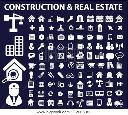 construction & real estate icons, vector