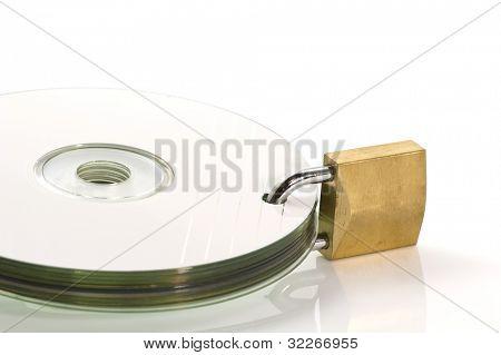 Dvd discs and padlock