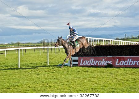 Fairyhouse Steeplechase Talab jumps final fence