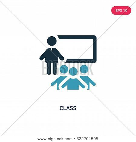 class icon in two color design style.