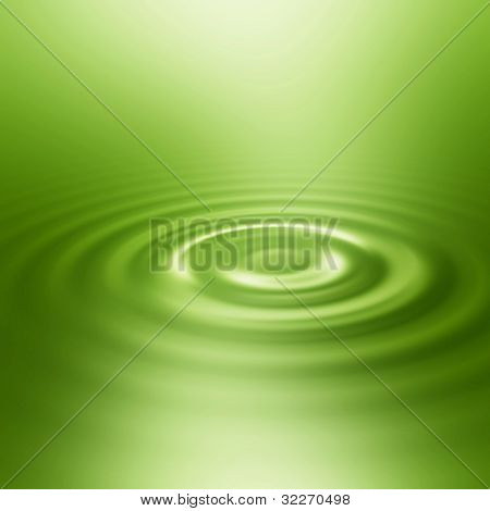 Smooth ripple in green water