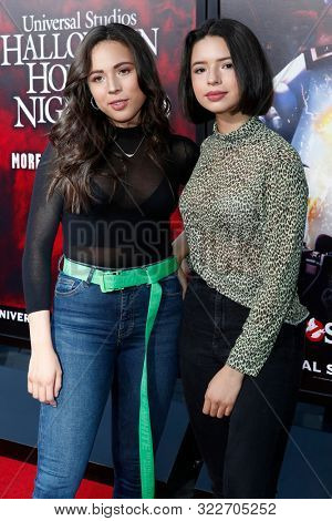 LOS ANGELES - SEP 12:  Aneliz Aguilar, Angela Aguilar at the Halloween Horror Nights at the Universal Studios Hollywood on September 12, 2019 in Universal City, CA