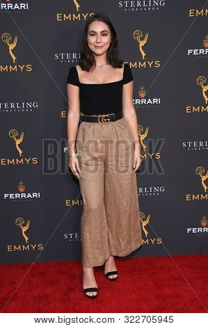 LOS ANGELES - AUG 28:  Emma Demirjian arrives for the Daytime Programming Peer Group Reception on August 28, 2019 in North Hollywood, CA